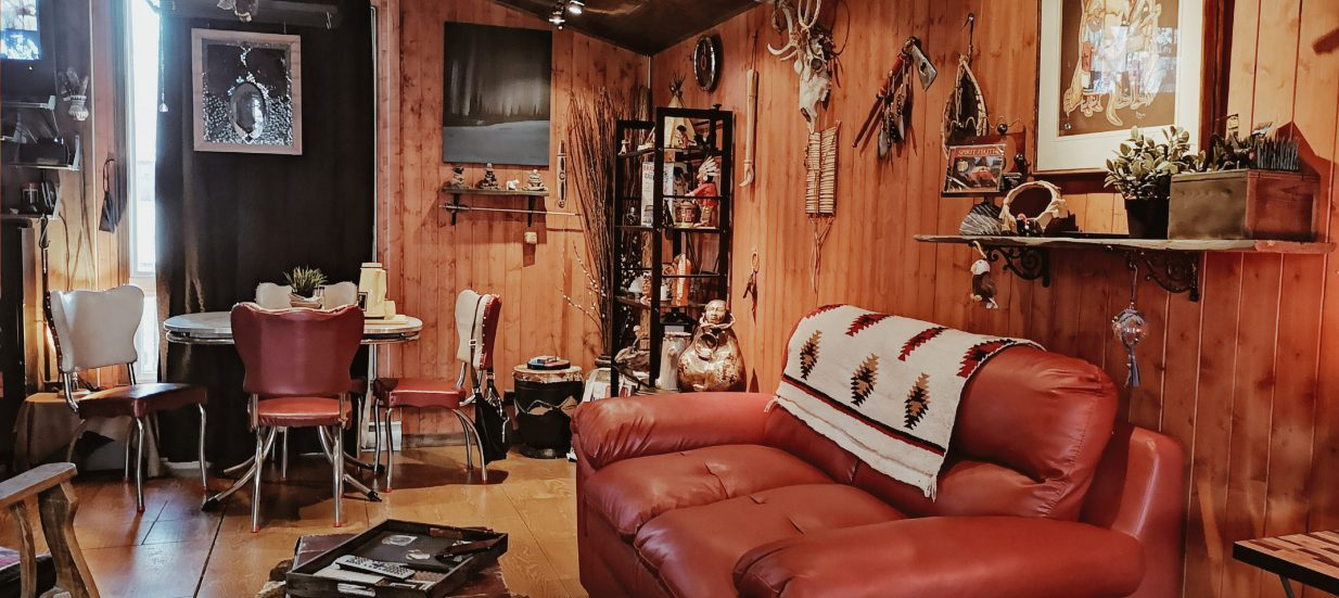 Interior of cabin in Bay of Quinte