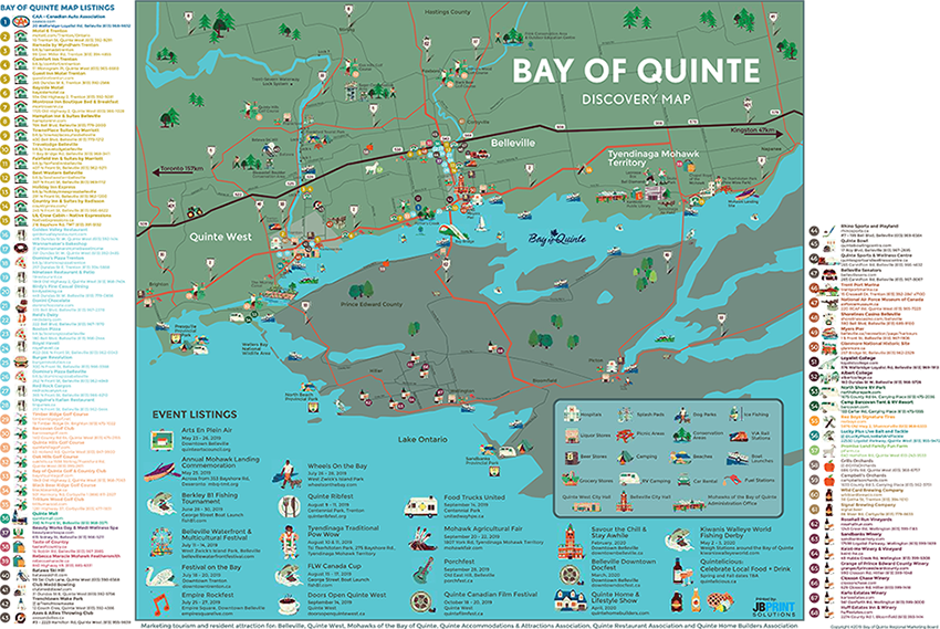 Bay of Quinte Discovery Map Front Web - Bay of Quinte Tourism Discovery Map on