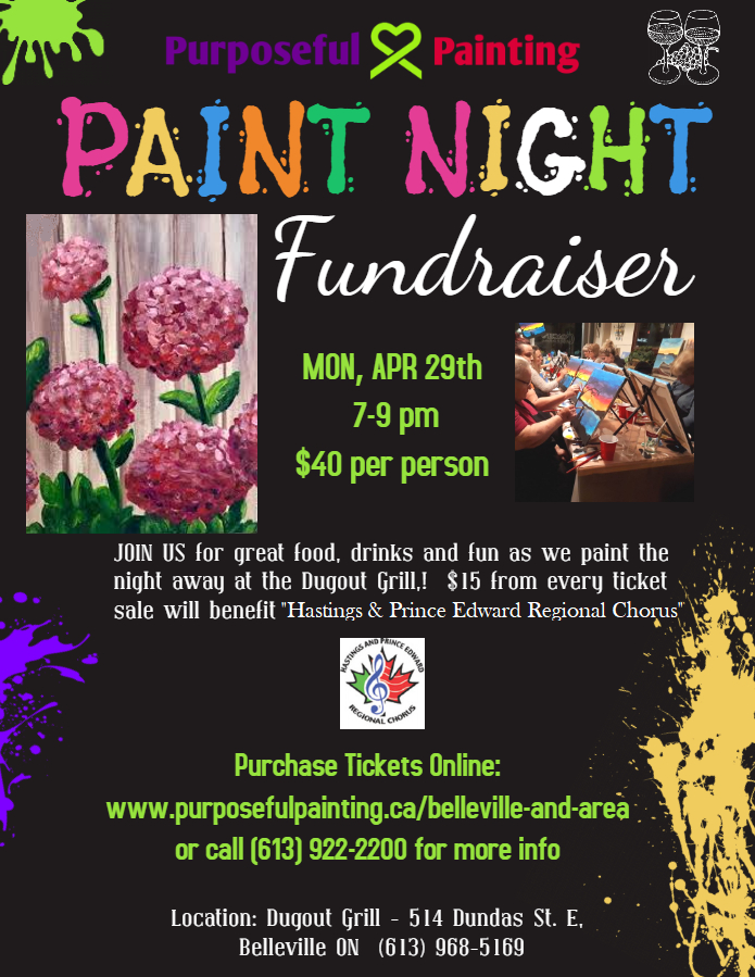 Purposeful Painting Fundraiser for HPEC Choir Apr 29th 2019