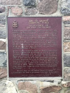 The plaque that is on the cairn. The inscription details the events of the Gunshot Treaty.
