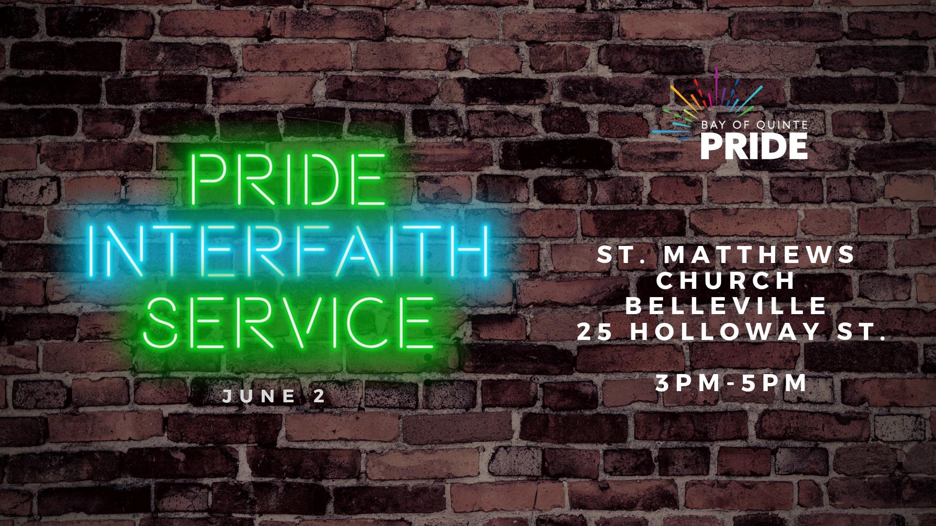 Pride Interfaith Service poster