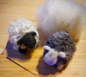 sheep made from needlefelting