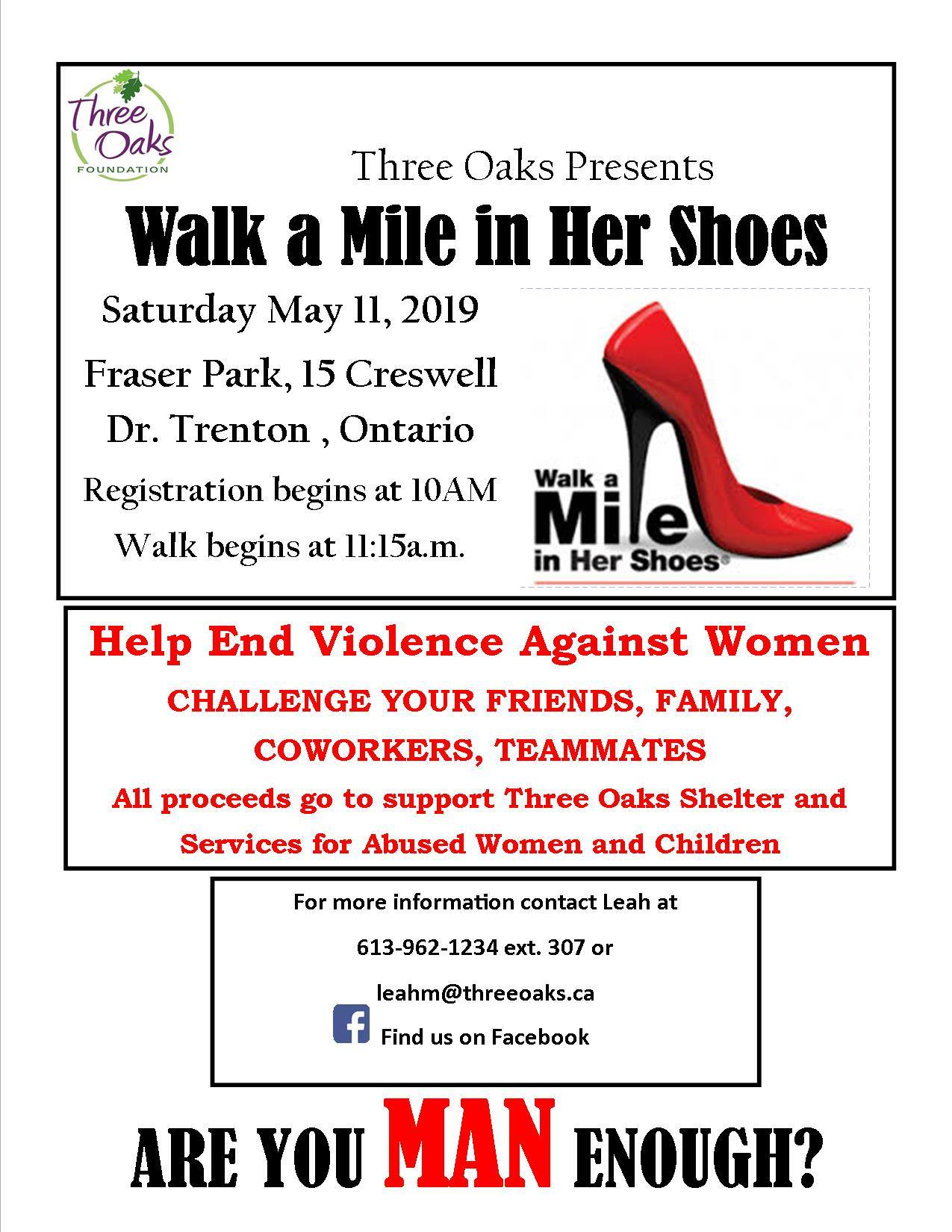 walk a mile in her shoes fundraiser