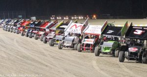 Southern Ontario Sprints - vehicles lined up
