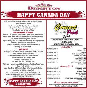 Canada Day Brighton Flyer