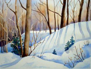 Donna Bonin Capturing Light Winter Woods