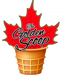 Logo for The Golden Scoop company