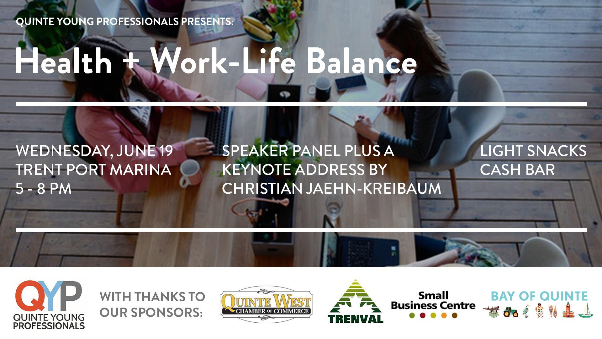 Health + Work-Life Balance flyer