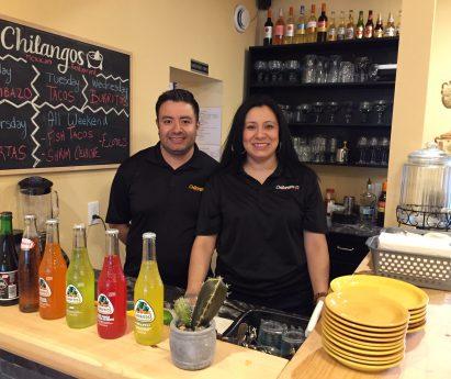 Abraham and Marlem Ramos behind the counter at Chilangos Restaurant
