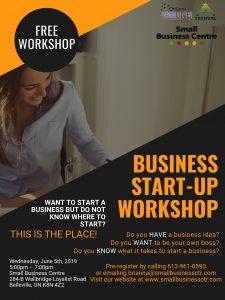 Business Start-Up Workshop poster