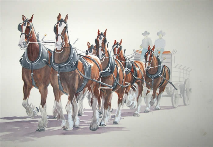 Ron Pickering Painting of Horses