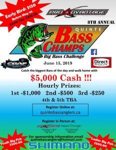 Quinte Bass 2019 Big Bass Challenge poster