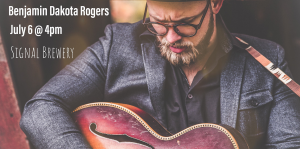 Benjamin Dakota Rogers playing guitar