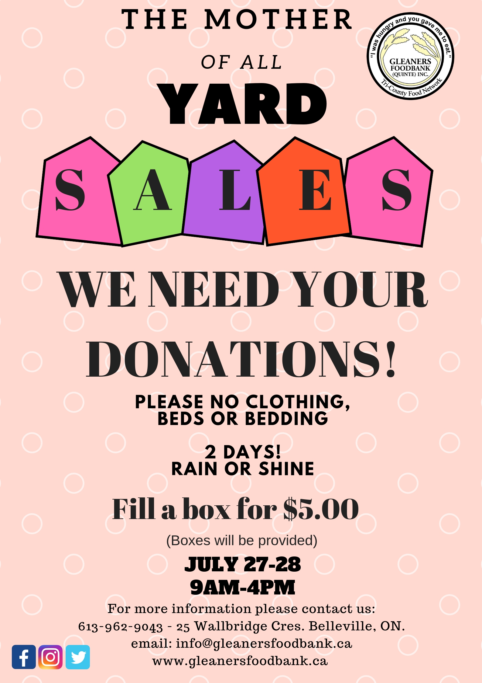 The Mother of All Yard Sales - Bay of Quinte Tourism