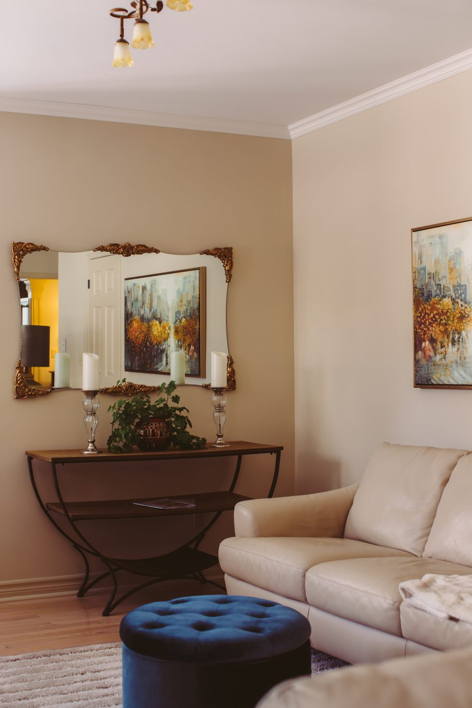Furniture in the living room at