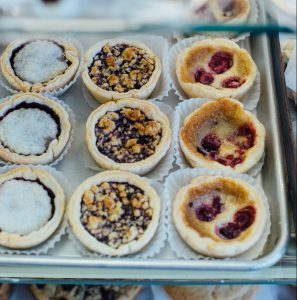 A variety of tarts from Wannamaker's Home Sweet Home.