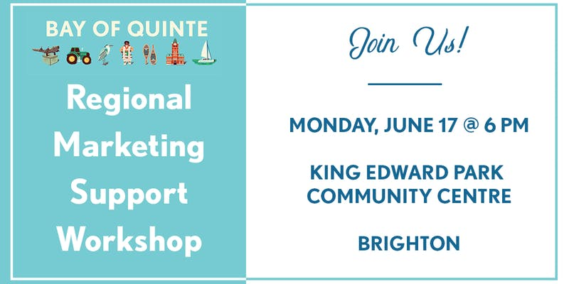 Regional Marketing Support Workshop flyer