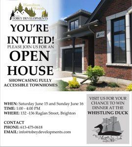 Tobey Developments Open House flyer