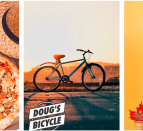 side by side images of pop-up shops: brick oven pizza, dougs bicycle and the golden scoop