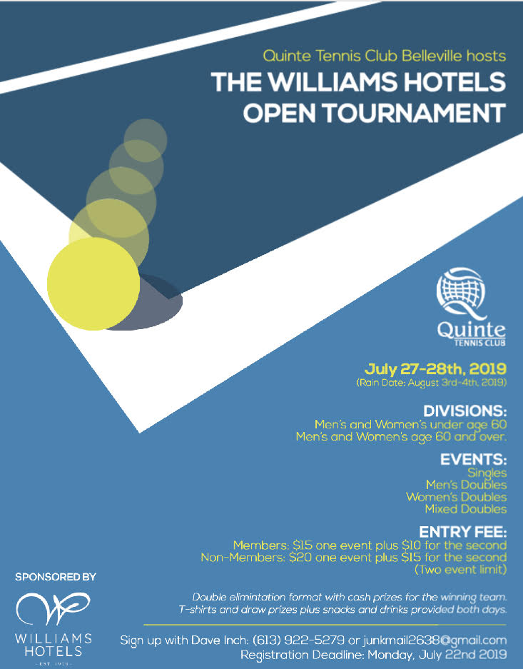 Williams Hotels Open Tournament Poster