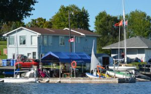 Dock of the yacht club where Quinte SailAbility takes place.