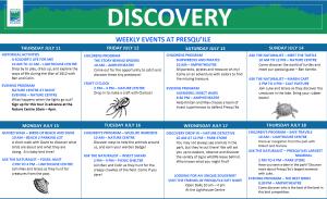 Presqu'ile Park Summer Interpretative Program Calendar