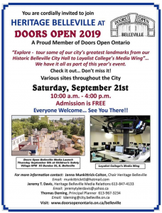 Heritage Belleville Open Doors Poster