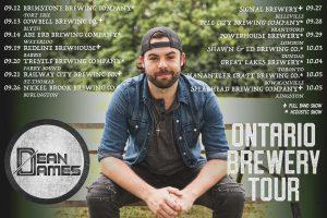 Dean James Brewery tour dates