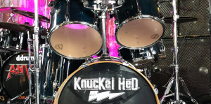 KnucKel Hed band logo on drumset