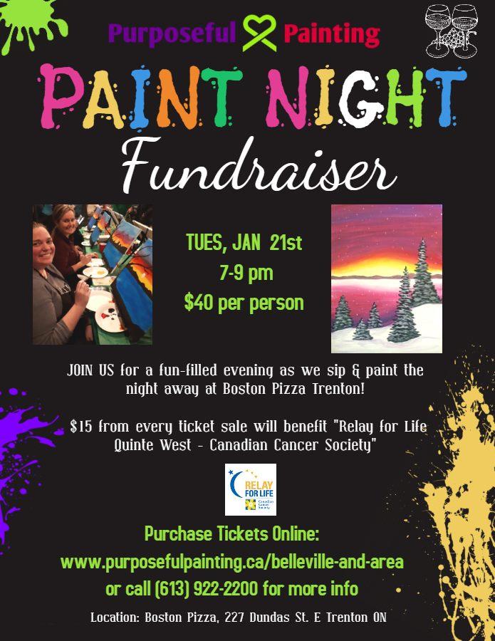 purposeful painting fundraiser quinte west