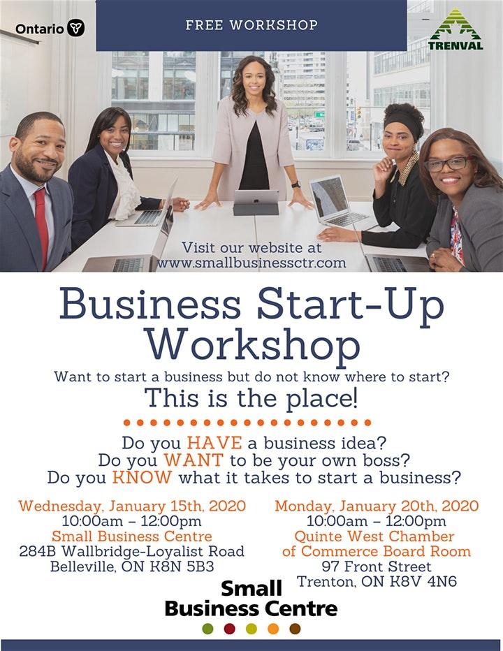 business start up workshop jan 15 20