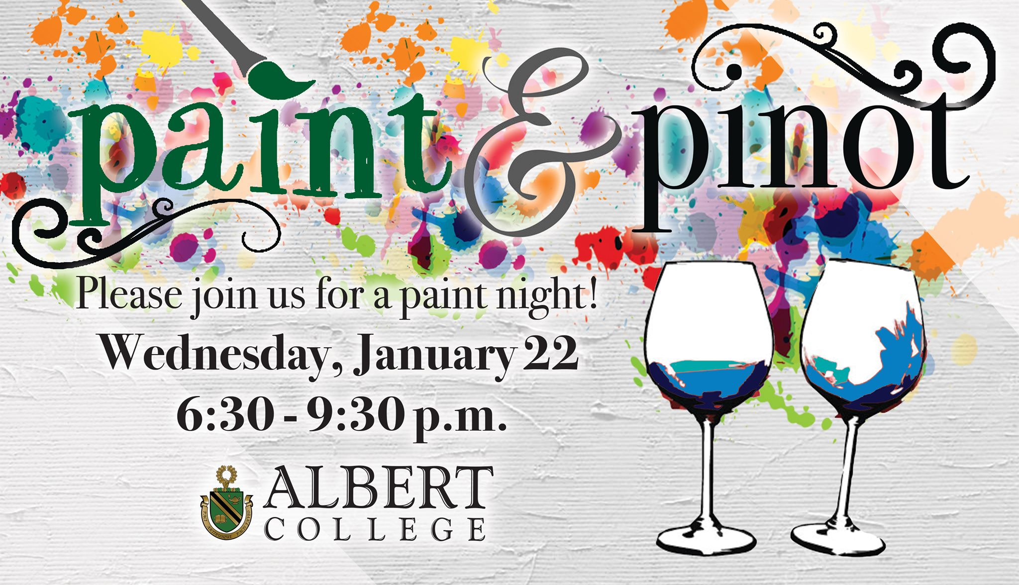 paint and pinot albert college