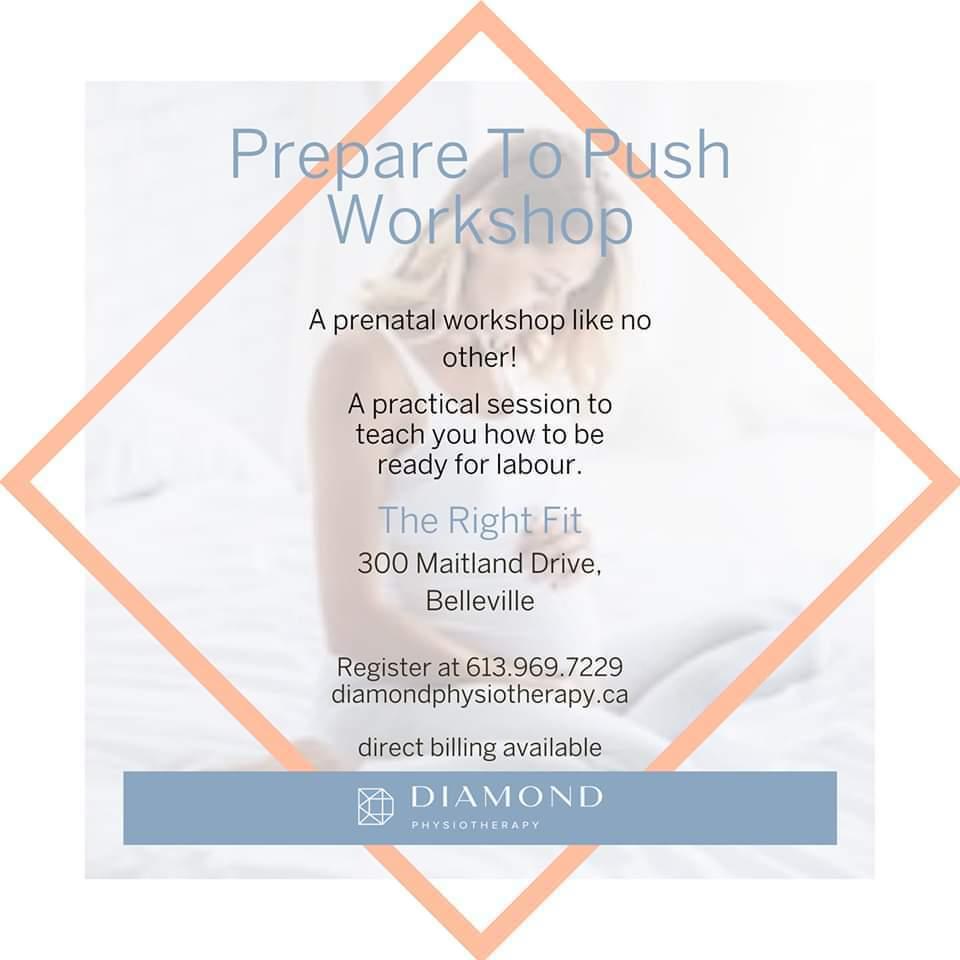 prepare to push workshop diamond physiotherapy