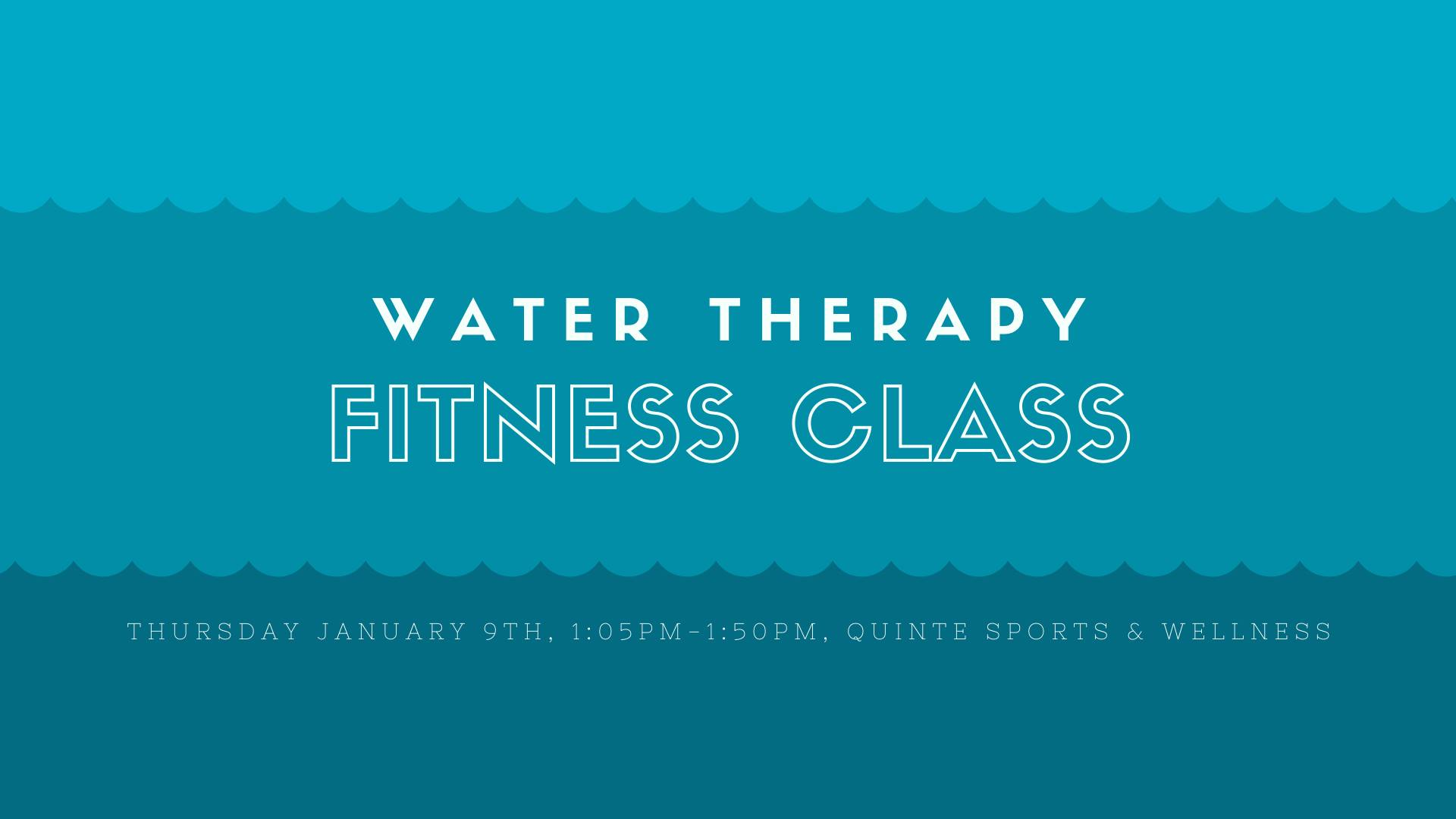 water therapy fitness class mohawks bay of quinte