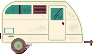 An illustration of an RV trailer