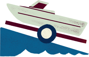 An illustration of a boat