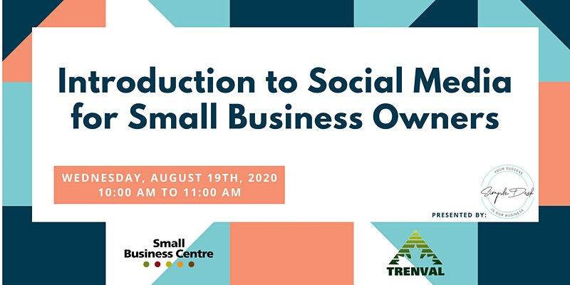 text: introduction to social media for small business owners webinar