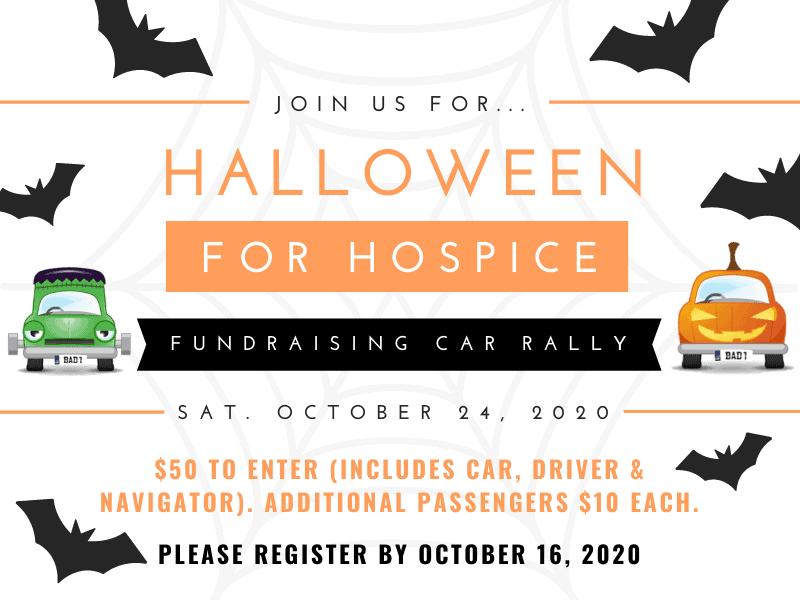 Halloween for Hospice Fundraising Car Rally