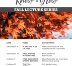 'FALL' IN LOVE WITH PLANTS. Connon Nurseries is sharing their knowledge of plants and gardening through a Know+Grow lecture series every Saturday.