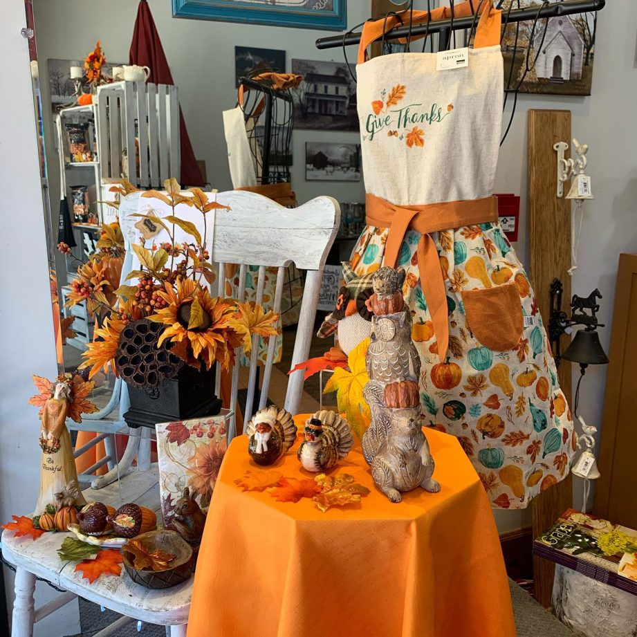 A retail display of fall kitchen items at Kate's Kitchen in downtown Belleville.