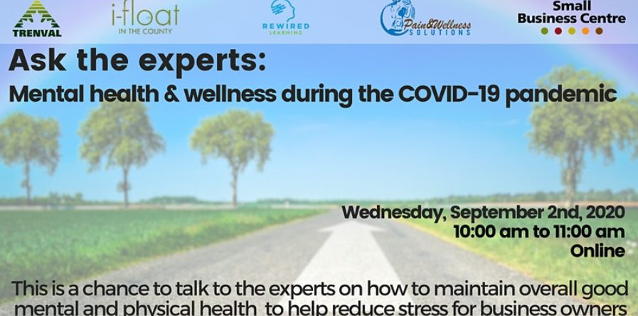 This Small Business Centre webinar offers the chance to talk to the experts on how to maintain overall good mental and physical health to help reduce stress for business owners.