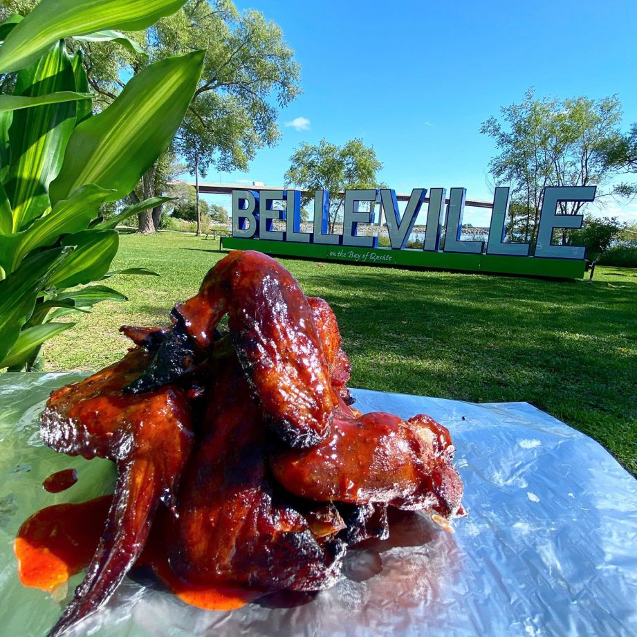 A plate of wings. Spice up your fall takeout routine with flavours from around the world, right here in Quinte West.