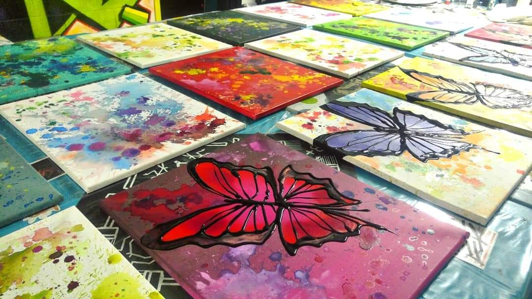 Butterly paintings
