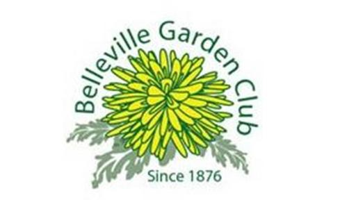 White background with Belleville Gardening Club logo in the center.