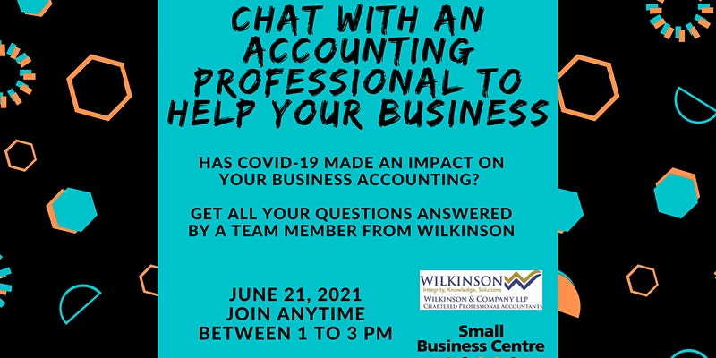 Black text on a turquoise background: Chat With An Accounting Professional To Help Your Business.