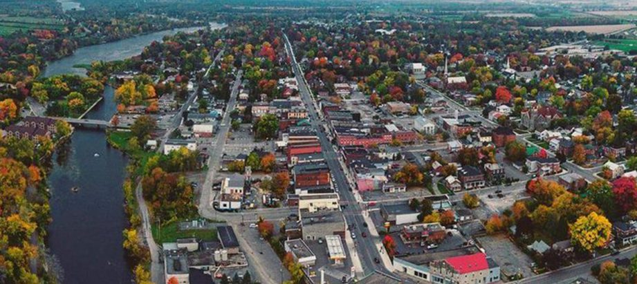 An aerial photo of Greater Napanee.